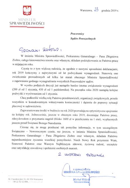 Wliście MS: Wzrost płac o1100 zł irola związków zawodowych