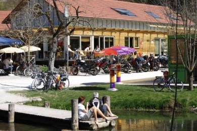 Bootshaus im Lautertal der Biker Treff