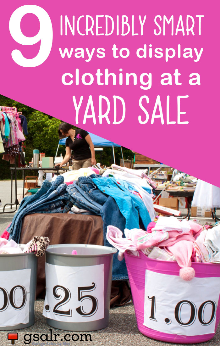 How To Price Clothes For A Garage Sale Garage Sale Tips