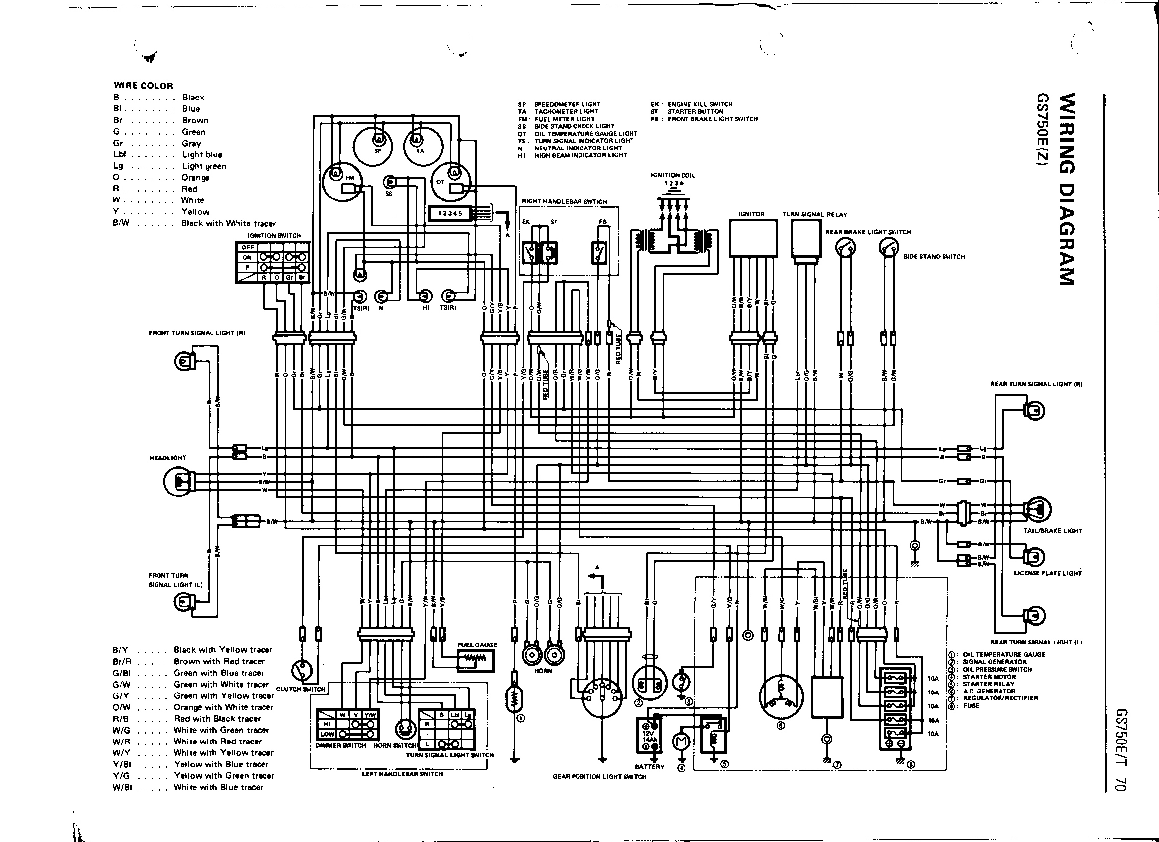 Wrg 80 Suzuki Gs 850 Wiring Diagram