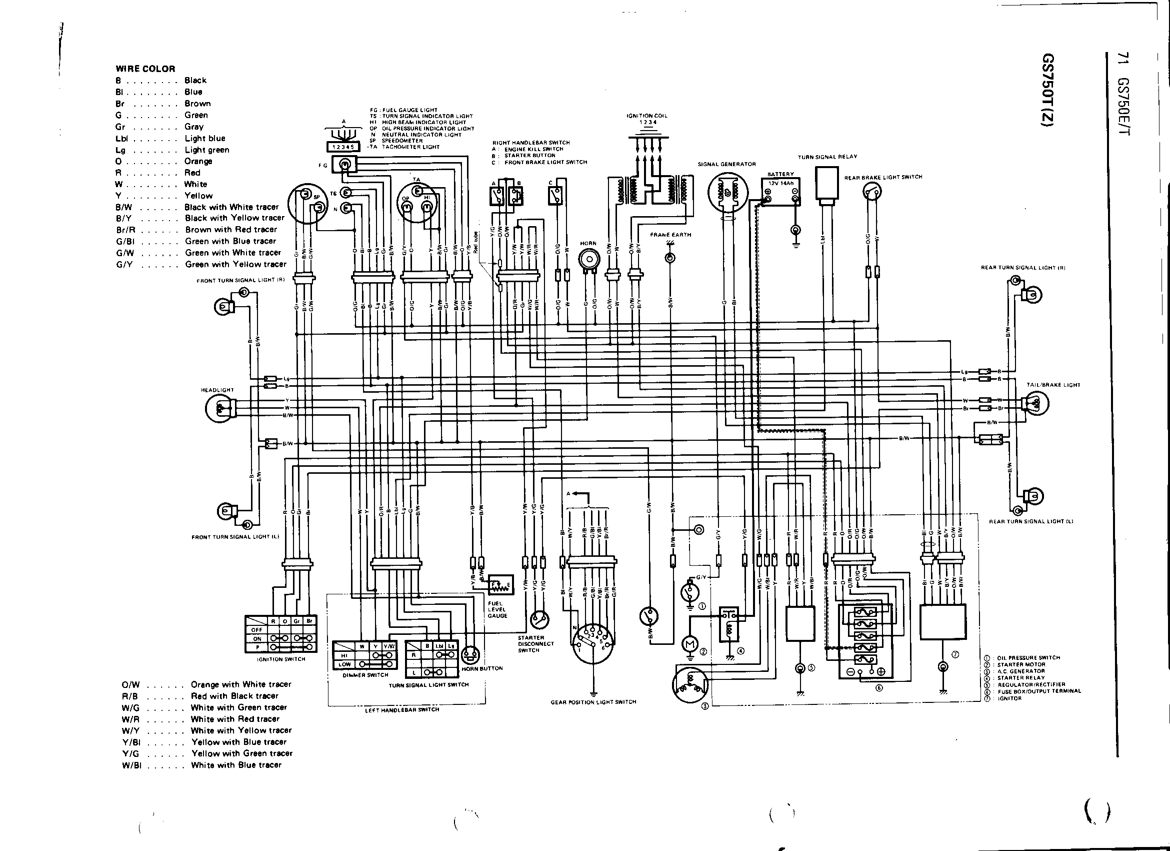 Suzuki Gs 750 Wiring Diagram