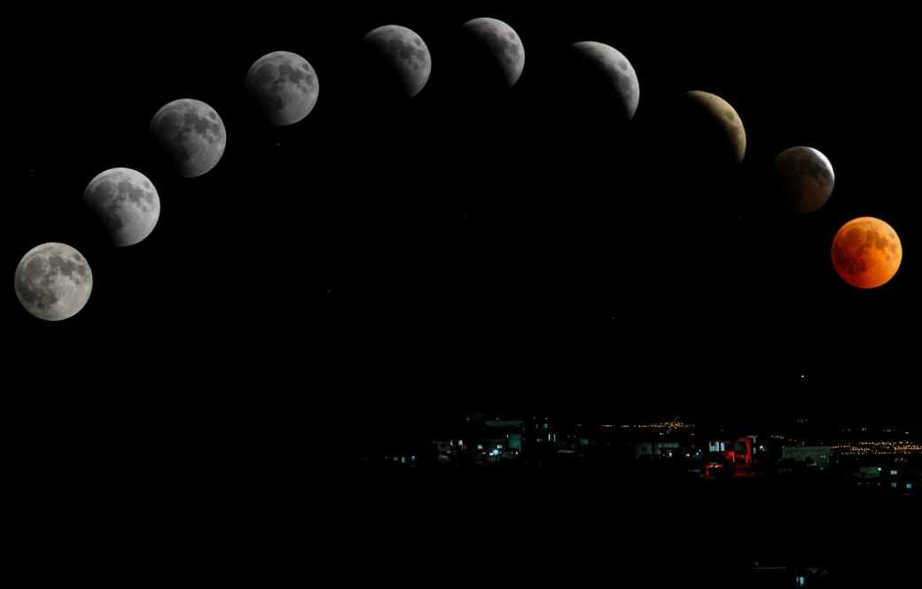 timelapse photography of moon