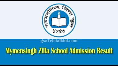 Mymensingh Zilla School Result
