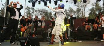 Deltron 3030 performs during the Rock the Bells Festival in Devore on Sunday, September 8, 2013.