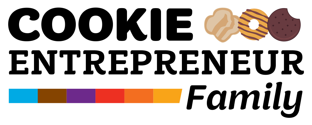 Girl Scout Cookie Entrepreneur Family Pin