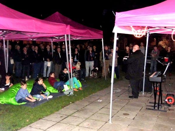 Rev Michael Hydes opened the Vigil