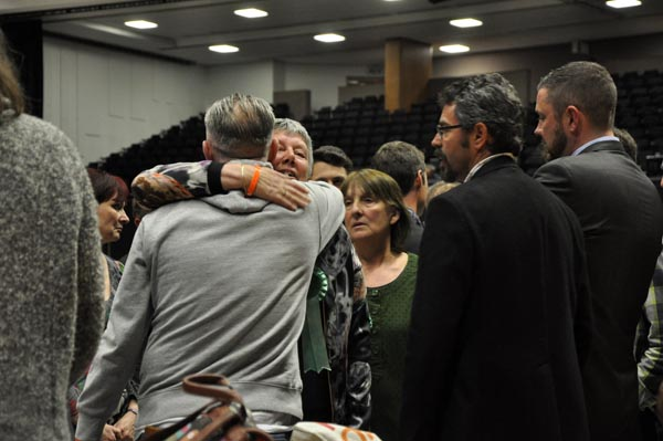 Colleagues console Green, Sue Shanks after losing her Withdean seat