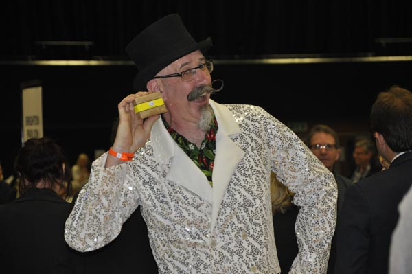 Gzunder Campbell the Official Monster Raving Loony candidate brought some much needed colour to the campaign in Brunwick and Adelaide ward
