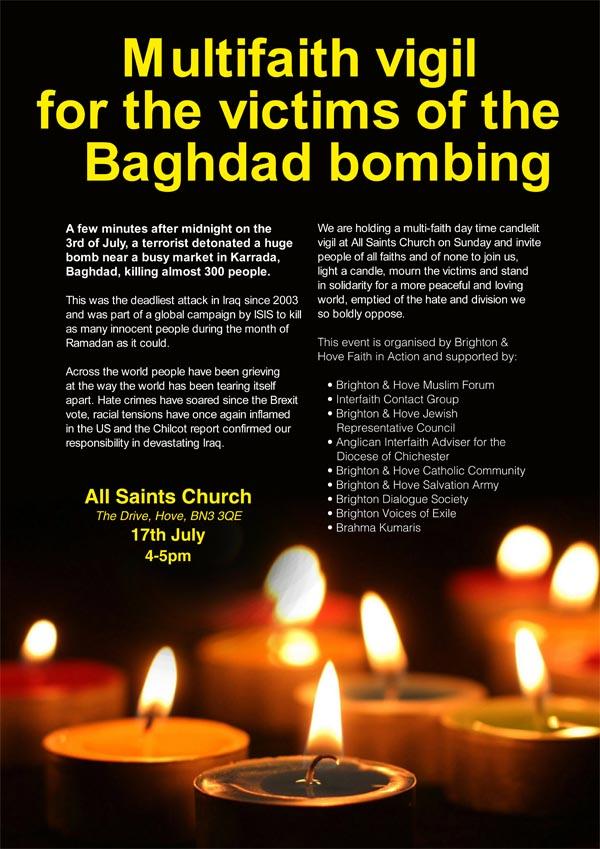 iraq vigil poster