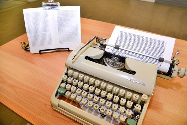Joe Orton's, typewriter, (Courtesy Leicester City Council/The Orton Estate)