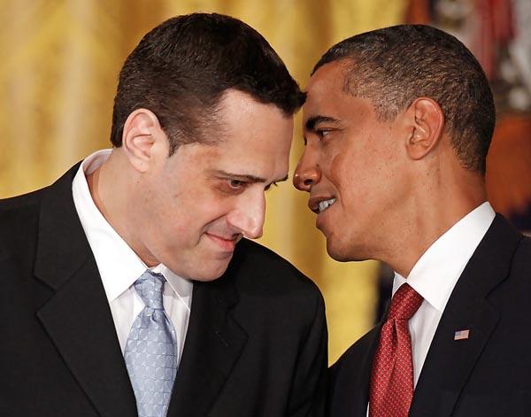 Stuart Milk with President Barack Obama