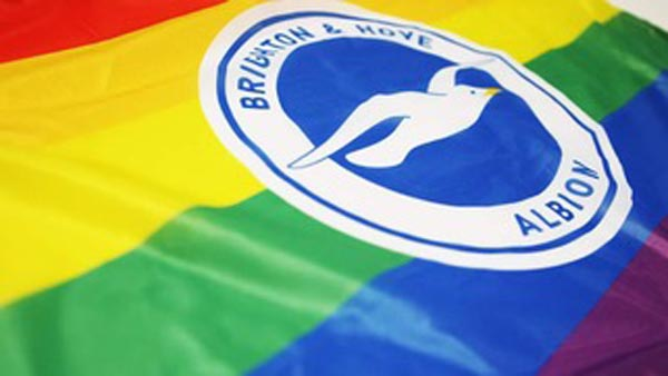 Image result for brighton& hove albion gay pride 2018 logo