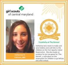 Gold Award for facebook Katherine Rinkers