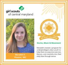 Gold Award for facebook Meredith Riley