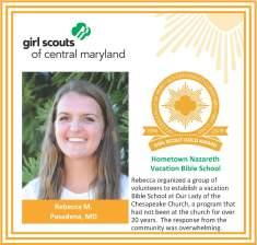 Gold Award for facebook Rebecca Meyer