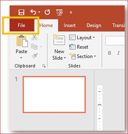 Microsoft PowerPoint 2019   Backstage view