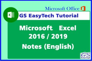 excel tutorial notes eng