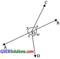 GSEB Solutions Class 9 Maths Chapter 6 Lines and Angles Ex 6.1