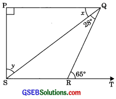 GSEB Solutions Class 9 Maths Chapter 6 Lines and Angles Ex 6.3