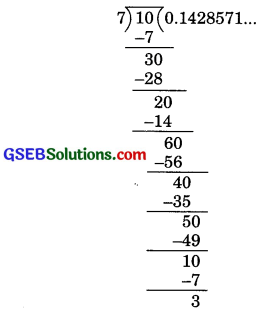 GSEB Solutions Class 9 Maths Chapter 1 Number Systems Ex 1.3