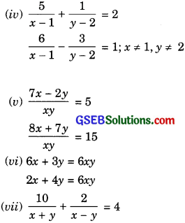 GSEB Solutions Class 10 Maths Chapter 3 Pair of Linear Equations in Two Variables Ex 3.6 img-21