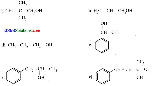 GSEB Solutions Class 12 Chemistry Chapter 11 Alcohols, Phenols and Ehers 1