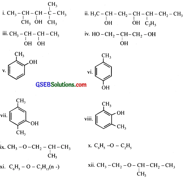 GSEB Solutions Class 12 Chemistry Chapter 11 Alcohols, Phenols and Ehers 17