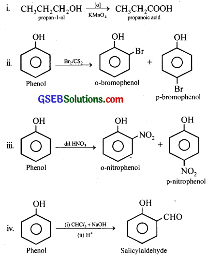 GSEB Solutions Class 12 Chemistry Chapter 11 Alcohols, Phenols and Ehers 28