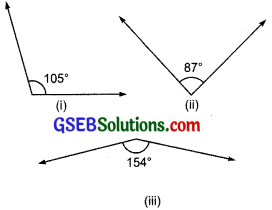 GSEB Solutions Class 7 Maths Chapter 5 Lines and Angles Ex 5.1 2