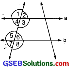 GSEB Solutions Class 7 Maths Chapter 5 Lines and Angles Ex 5.2 1