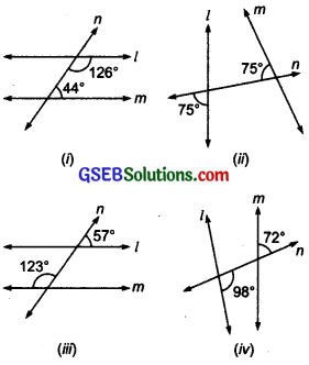 GSEB Solutions Class 7 Maths Chapter 5 Lines and Angles Ex 5.2 8