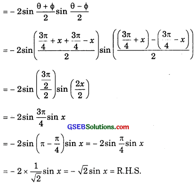 GSEB Solutions Class 11 Maths Chapter 3 Trigonometric Functions Ex 3.3 img 6