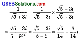 GSEB Solutions Class 11 Maths Chapter 5 Complex Numbers and Quadratic Equations Ex 5.1 img 3