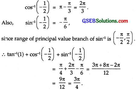 GSEB Solutions Class 12 Maths Chapter 2 Inverse Trigonometric Functions Ex 2.1 1