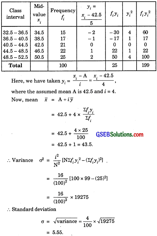 GSEB Solutions Class 11 Maths Chapter 15 Statistics Ex 15.2 img 19
