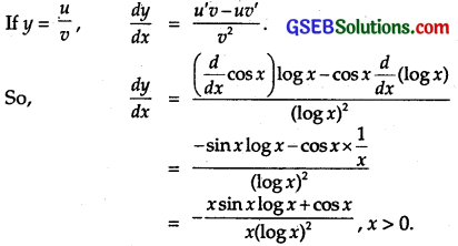 GSEB Solutions Class 12 Maths Chapter 5 Continuity and Differentiability Ex 5.4 6