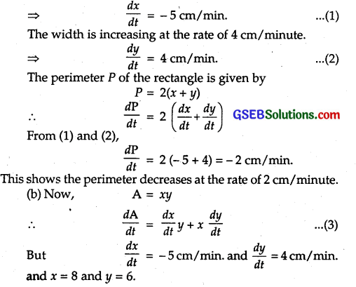 GSEB Solutions Class 12 Maths Chapter 6 Application of Derivatives Ex 6.1 5