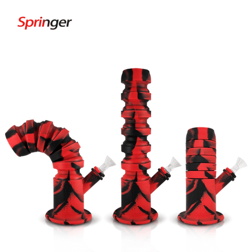 """Waxmaid 11.6"""" Springer Collapsible Silicone Water Pipe"""