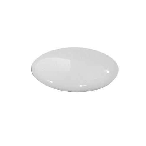 Round Ceramic Waste Cover - White