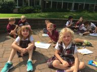 Outdoor Classroom. Faculty utilizes the entire Good Shepherd campus to encourage students to engage fully each day.
