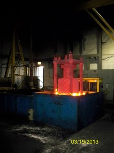 Quenching pit furnace