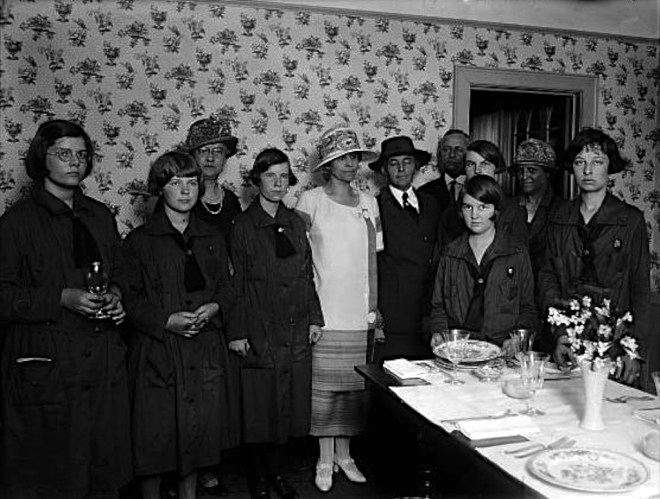 In the 1920s and 1930s, the Little House was THE place to go on Saturdays. There was always some badge activity to try or new skill to learn, and the First Lady, as honorary president of the Girl Scouts, might decide to drop by.