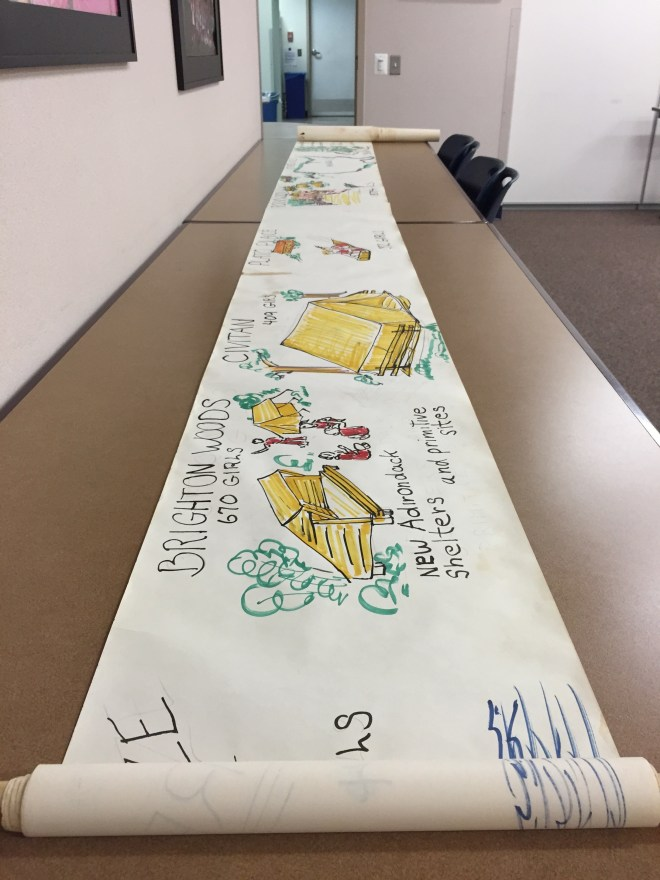 Camp history scroll