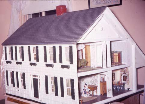 Side view of doll house (Hoover Presidential Library Facebook page)