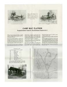 Camp May Flather Fund Raising Brochure (Courtesy Herbert Hoover Presidential Library.)
