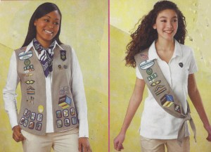 2008 Girl Scout uniform for Cadettes and Seniors