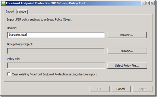 Forefront Endpoint Protection 2010 Tools–GPO, BPA, ConfigMgr Policies (2/4)