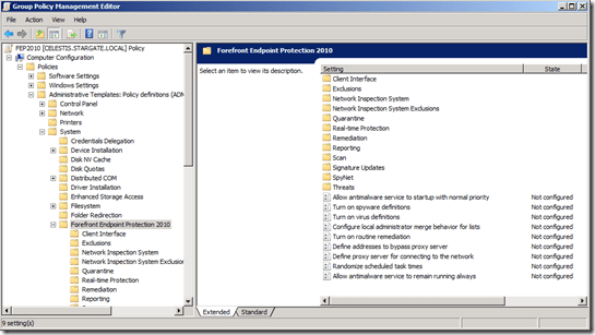 Forefront Endpoint Protection 2010 Tools–GPO, BPA, ConfigMgr Policies (3/4)