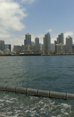 View of San Diego's skyline from the ocean.
