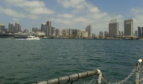 View of San Diego from the ocean.